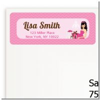 Modern Mommy Crib It's A Girl - Baby Shower Return Address Labels