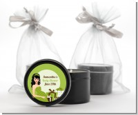 Modern Mommy Crib Neutral - Baby Shower Black Candle Tin Favors