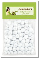 Modern Mommy Crib Neutral - Custom Baby Shower Treat Bag Topper