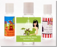 Modern Mommy Crib Neutral - Personalized Baby Shower Hand Sanitizers Favors