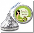 Modern Mommy Crib Neutral - Hershey Kiss Baby Shower Sticker Labels thumbnail