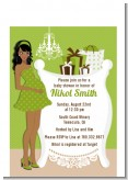 Modern Mommy Crib Neutral - Baby Shower Petite Invitations