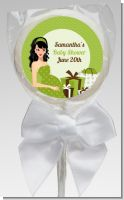Modern Mommy Crib Neutral - Personalized Baby Shower Lollipop Favors