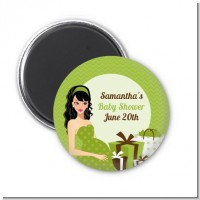 Modern Mommy Crib Neutral - Personalized Baby Shower Magnet Favors
