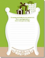 Modern Mommy Crib Neutral - Baby Shower Notes of Advice