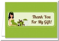 Modern Mommy Crib Neutral - Baby Shower Thank You Cards