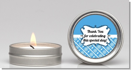 Modern Thatch Blue -  Candle Favors