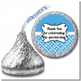 Modern Thatch Blue - Hershey Kiss Sticker Labels
