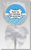 Modern Thatch Blue - Personalized Lollipop Favors
