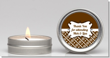 Modern Thatch Brown -  Candle Favors