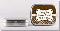 Modern Thatch Brown - Personalized Mint Tins