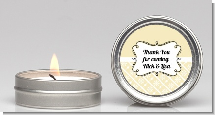 Modern Thatch Cream -  Candle Favors
