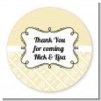 Modern Thatch Cream - Personalized Everyday Party Round Sticker Labels thumbnail