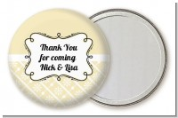 Modern Thatch Cream - Personalized Pocket Mirror Favors