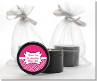 Modern Thatch Fuschia - Black Candle Tin Favors