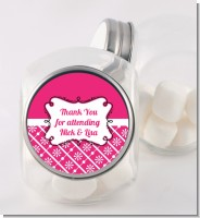 Modern Thatch Fuschia - Personalized Candy Jar
