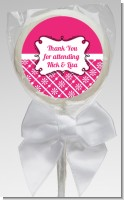 Modern Thatch Fuschia - Personalized Lollipop Favors