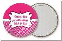 Modern Thatch Fuschia - Personalized Pocket Mirror Favors