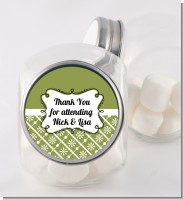 Modern Thatch Green - Personalized Candy Jar