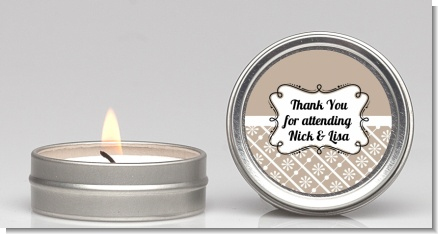 Modern Thatch Latte -  Candle Favors