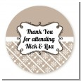Modern Thatch Latte - Personalized Everyday Party Round Sticker Labels thumbnail