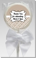 Modern Thatch Latte - Personalized Lollipop Favors