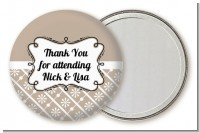 Modern Thatch Latte - Personalized Pocket Mirror Favors