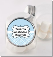 Modern Thatch Light Blue - Personalized Candy Jar