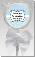 Modern Thatch Light Blue - Personalized Lollipop Favors