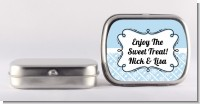 Modern Thatch Light Blue - Personalized Mint Tins