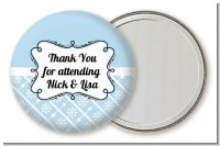 Modern Thatch Light Blue - Personalized Pocket Mirror Favors