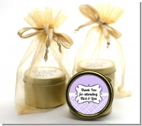 Modern Thatch Lilac - Gold Tin Candle Favors