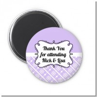 Modern Thatch Lilac - Personalized Magnet Favors