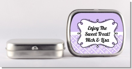Modern Thatch Lilac - Personalized  Mint Tins