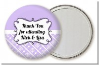 Modern Thatch Lilac - Personalized Pocket Mirror Favors