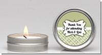 Modern Thatch Olive - Candle Favors