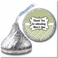 Modern Thatch Olive - Hershey Kiss Sticker Labels