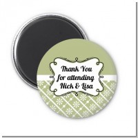 Modern Thatch Olive - Personalized Magnet Favors