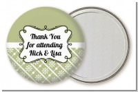 Modern Thatch Olive - Personalized Pocket Mirror Favors