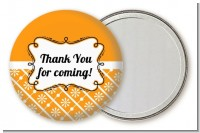 Modern Thatch Orange - Personalized Pocket Mirror Favors