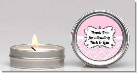 Modern Thatch Pink -  Candle Favors