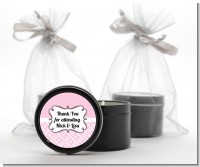 Modern Thatch Pink - Black Candle Tin Favors