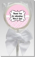 Modern Thatch Pink - Personalized Lollipop Favors