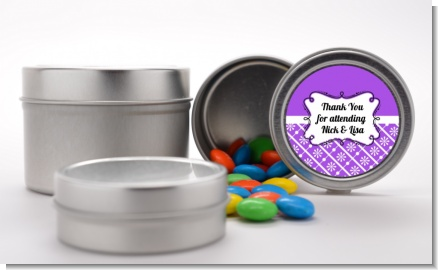 Modern Thatch Purple - Custom  Favor Tins