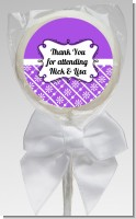 Modern Thatch Purple - Personalized Lollipop Favors
