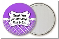 Modern Thatch Purple - Personalized Pocket Mirror Favors