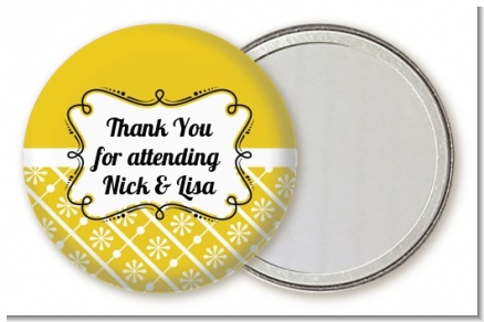 Modern Thatch Yellow - Personalized  Pocket Mirror Favors