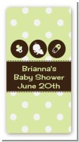 Modern Baby Green Polka Dots - Custom Rectangle Baby Shower Sticker/Labels