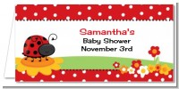 Modern Ladybug Red - Personalized Baby Shower Place Cards