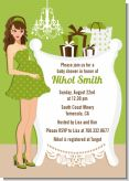 Modern Mommy Crib Neutral - Baby Shower Invitations